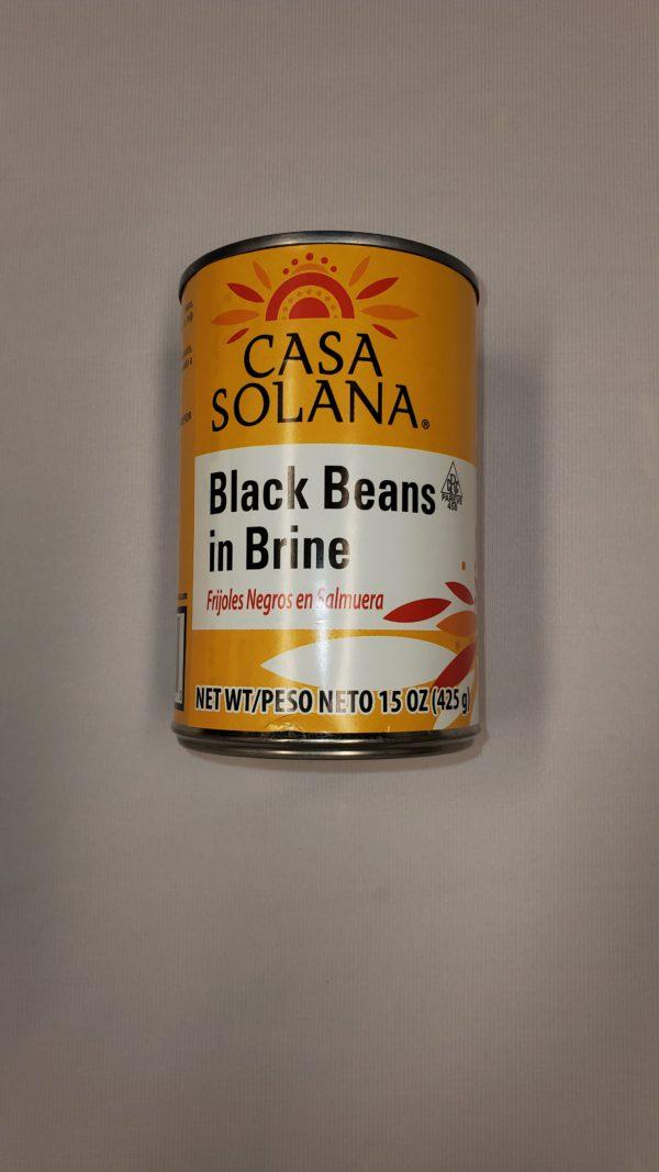 Casa Solana Black Beans in Brine - 15 oz