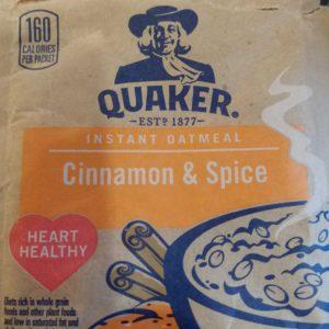 Quaker Instant Oatmeal Cinnamon & Spice – 1.51 oz