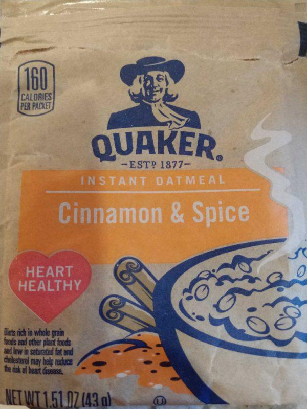 Quaker Instant Oatmeal Cinnamon & Spice - 1.51 oz