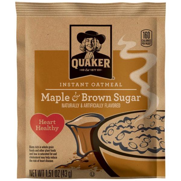 Quaker Instant Oatmeal Maple & Brown Sugar - 1.51 oz
