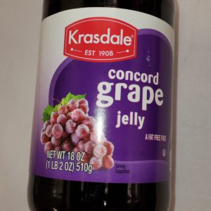 Krasdale Concord Grape Jelly 18 oz (Lerner)
