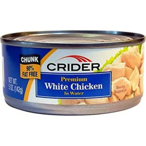 Crider Deluxe White Chicken in Water 4.5 oz (Lerner)
