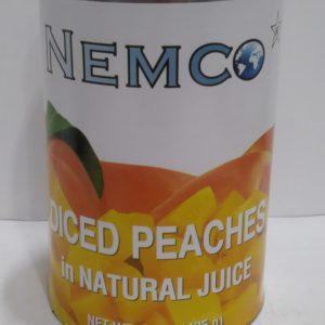 Nemco Sliced Peaches in Natural Juice 15 oz (Lerner)