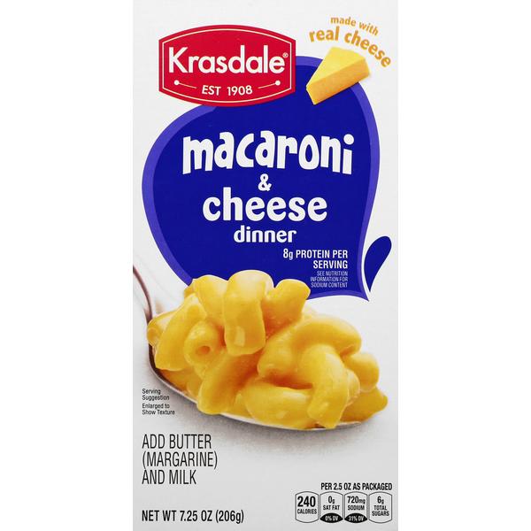 Krasdale Macaroni & Cheese Dinner 7.25 oz