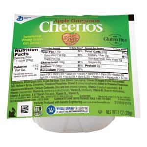 Cereal Cheerio Apple Cinnamon Bowl 1 oz.  (Lerner)