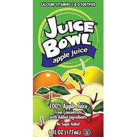 Juice Bowl 100% Apple Juice – 6 oz (Lerner)