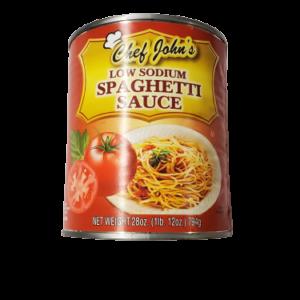 Chef John's Low Sodium Spaghetti Sauce - 28 oz