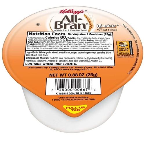 Kellogg's All-Bran Cereal .88 oz