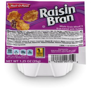 MaltO Meal Raisin Bran Cereal 1.25 oz